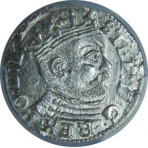 Stefan Batory, Trojak 1585, Ryga, PCGS MS63