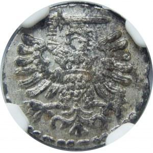 Zygmunt III Waza, Denar 1594, Gdańsk, NGC MS62