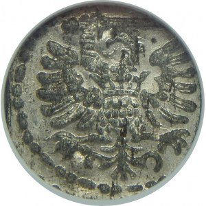 Zygmunt III Waza, Denar 1596-duża data, Gdańsk, NGC MS63