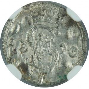 Zygmunt III Waza, Dwudenar 1620, Wilno, NGC MS62 - lustrzane 6