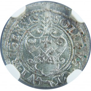 Zygmunt III Waza, Szeląg 1621, Ryga, NGC MS63
