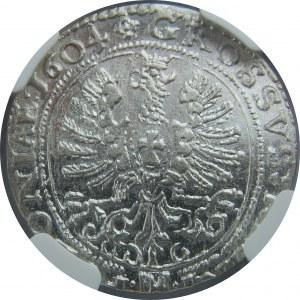 Zygmunt III Waza, Grosz 1604, Kraków, NGC MS63