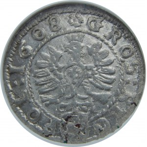 Zygmunt III Waza, Grosz 1608, Kraków, NGC MS62