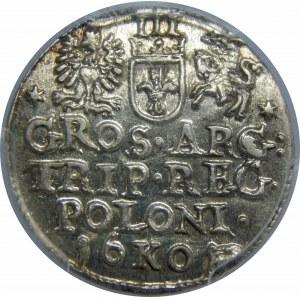 Zygmunt III Waza, Trojak 1601, Kraków, PCGS MS64