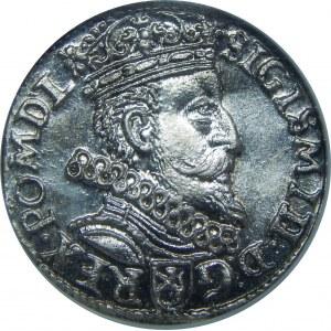 Zygmunt III Waza, Trojak 1601, Kraków, NGC MS64