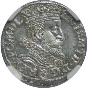 Zygmunt III Waza, Trojak 1601, Kraków, NGC MS63