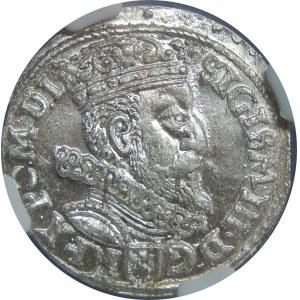 Zygmunt III Waza, Trojak 1604/3, Kraków, NGC MS64