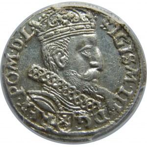 Zygmunt III Waza, Trojak 1605, Kraków, PCGS MS62