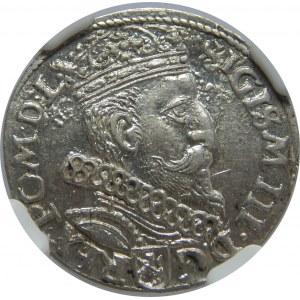 Zygmunt III Waza, Trojak 1605, Kraków, NGC AU58