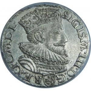 Zygmunt III Waza, Trojak 1592, Malbork, PCGS MS63