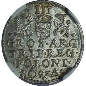 Zygmunt III Waza, Trojak 1592, Malbork, NGC MS63