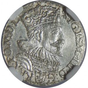 Zygmunt III Waza, Trojak 1593, Malbork, NGC MS62