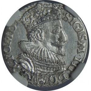 Zygmunt III Waza, Trojak 1594, Malbork, NGC MS61