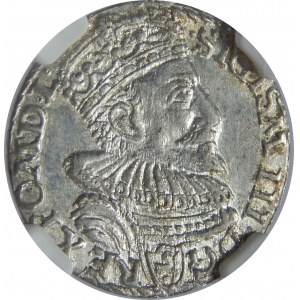Zygmunt III Waza, Trojak 1594, Malbork, NGC MS62