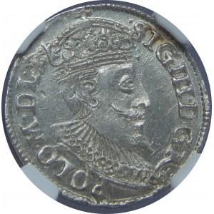 Zygmunt III Waza, Trojak 1595, Olkusz, NGC MS62