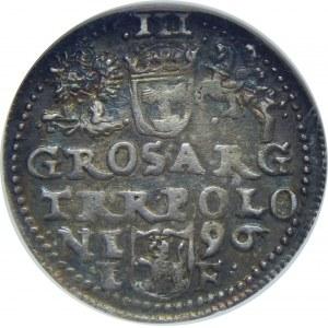 Zygmunt III Waza, Trojak 1596, Olkusz, NGC MS63