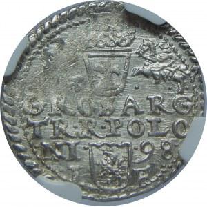 Zygmunt III Waza, Trojak 1598, Olkusz, NGC MS63