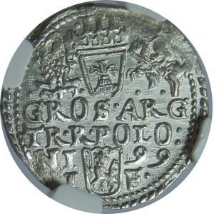 Zygmunt III Waza, Trojak 1599, Olkusz, NGC MS65