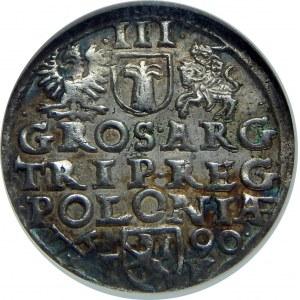 Zygmunt III Waza, Trojak 1590, Poznań, NGC MS62