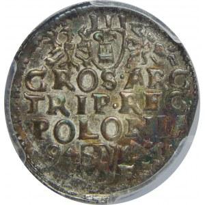 Zygmunt III Waza, Trojak 1594, Poznań, PCGS MS64