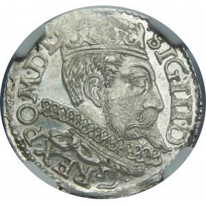 Zygmunt III Waza, Trojak 1598, Poznań, NGC MS64