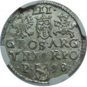 Zygmunt III Waza, Trojak 1598, Poznań, NGC MS63