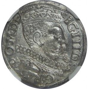 Zygmunt III Waza, Trojak 1599, Poznań, NGC MS63