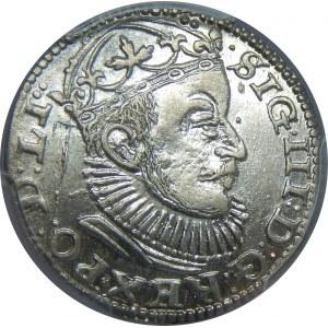 Zygmunt III Waza, Trojak 1589, Ryga, PCGS MS62