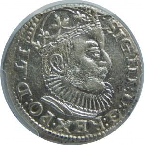 Zygmunt III Waza, Trojak 1589, Ryga, PCGS MS63