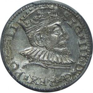 Zygmunt III Waza, Trojak 1591, Ryga, PCGS MS63