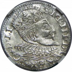 Zygmunt III Waza, Trojak 1594, Ryga, NGC MS65