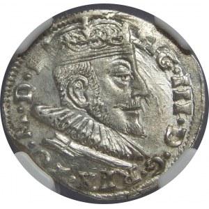 Zygmunt III Waza, Trojak 1592, Wilno, NGC MS62