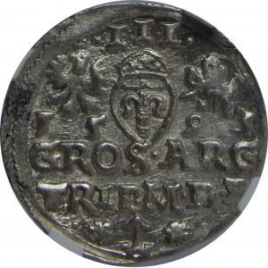 Zygmunt III Waza, Trojak 1593, Wilno, NGC MS63
