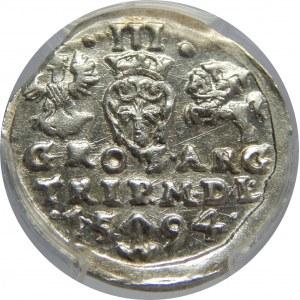 Zygmunt III Waza, Trojak 1594, Wilno, PCGS MS63