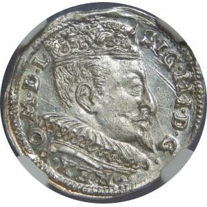Zygmunt III Waza, Trojak 1594, Wilno, NGC MS63