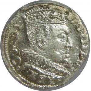 Zygmunt III Waza, Trojak 1595, Wilno, PCGS MS62