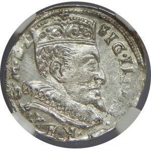 Zygmunt III Waza, Trojak 1595, Wilno, NGC MS62