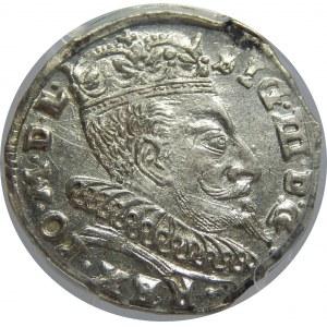 Zygmunt III Waza, Trojak 1596, Wilno, PCGS MS62