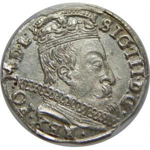 Zygmunt III Waza, Trojak 1597, Wilno, PCGS MS64