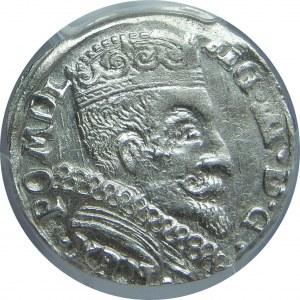 Zygmunt III Waza, Trojak 1598, Wilno, PCGS AU58