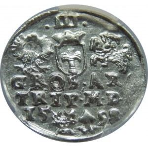 Zygmunt III Waza, Trojak 1598, Wilno, PCGS MS62
