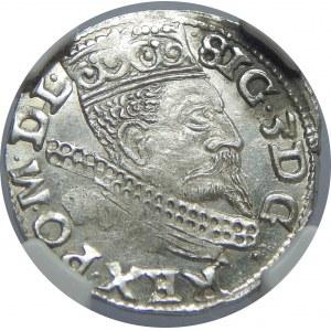 Zygmunt III Waza, Trojak 1599, Wschowa, NGC MS61
