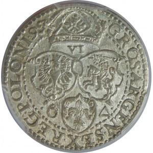 Zygmunt III Waza, Szóstak 1599, Malbork, PCGS MS62