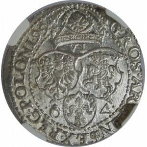 Zygmunt III Waza, Szóstak 1599, Malbork, Duża Głowa, NGC MS64