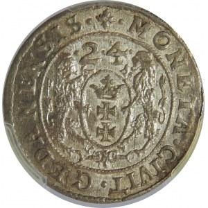 Zygmunt III Waza, Ort 1624/3, Gdańsk, PCGS MS63