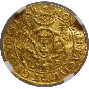 Jan II Kazimierz, Dukat 1658, Gdańsk, NGC AU