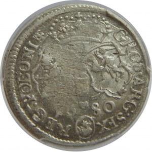 Jan III Sobieski, Szóstak 1680 , Bydgoszcz, PCGS MS60