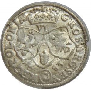 Jan III Sobieski, Szóstak 1683 , Bydgoszcz, PCGS MS62