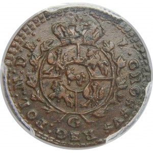 SAP, 1 Grosz 1767, Warszawa, PCGS UNC