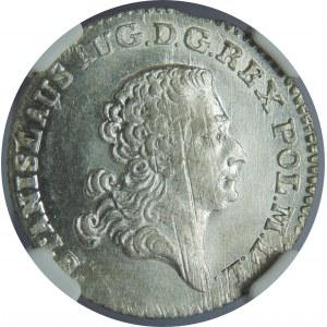 SAP, 1 złoty 1767 FS, Warszawa, NGC MS62